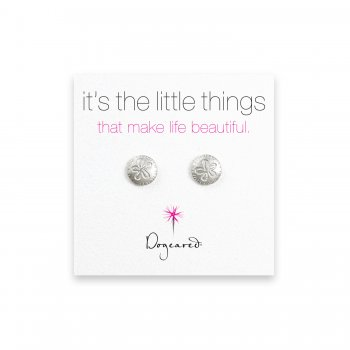 small sand dollar stud earrings, sterling silver