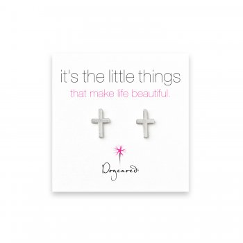 small+simple+cross+stud+earrings%2C+sterling+silver