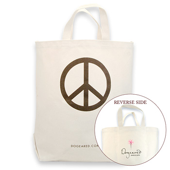 peace reusable shopping bag