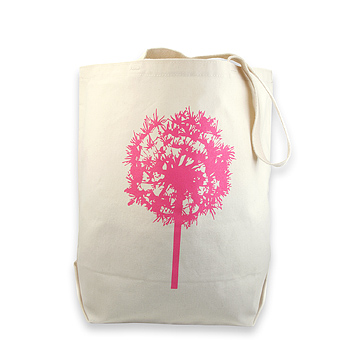 dandelion reusable tote bag