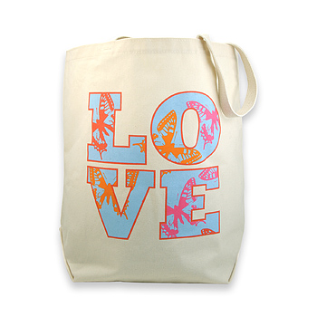love butterflies reusable tote bag