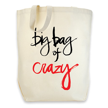 dogeared cotton tote - big bag of crazy