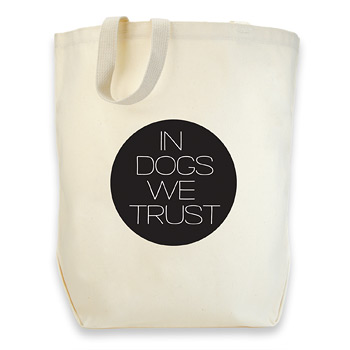 dogeared cotton tote - in dogs we trust