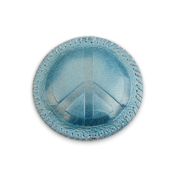 peace ocean leather paperweight