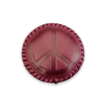peace purple leather paperweight