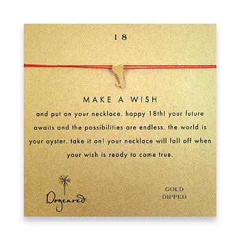 18 make a wish necklace with gold dipped key to my heart on berry : Dogeared Jewels and Gifts