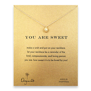 you are sweet reminder necklace with gold dipped strawberry : Dogeared Jewels and Gifts :  gold filled dogeared jewels and gifts strawberry gold dipped