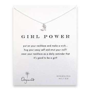girl power reminder necklace with sterling silver high heel : Dogeared Jewels and Gifts