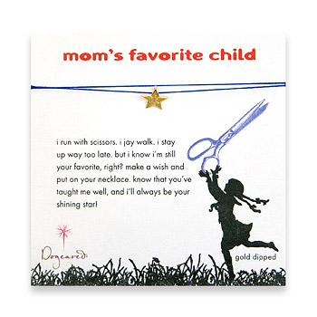 mom's favorite child make a wish necklace with gold dipped lucky star on royal : Dogeared Jewels and Gifts :  star dogeared jewels and gifts moms favorite mom