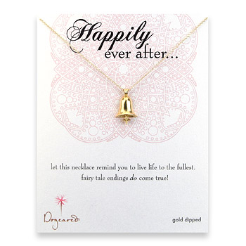 gold dipped happily ever after necklace : Dogeared Jewels and Gifts :  bell necklaces gold filled marriage
