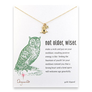 Not Older Wiser Necklace from dogeared.com