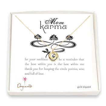 mom karma gold dipped necklace : Dogeared Jewels and Gifts