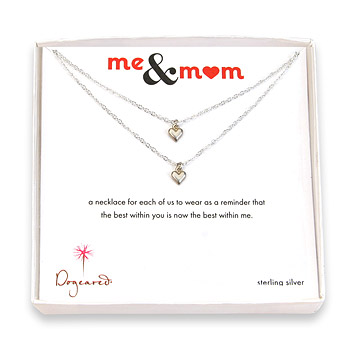 me and mom sterling silver necklaces with cupid hearts : Dogeared Jewels and Gifts