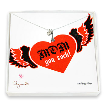 mom you rock sterling silver necklace : Dogeared Jewels and Gifts :  sterling silver dogeared jewels and gifts cupid heart rock