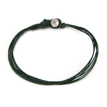 oxidized peace bead bracelet on leaf irish linen : Dogeared Jewels and Gifts