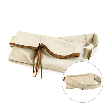 hipster organic belt purse : Dogeared Jewels and Gifts :  dogeared jewels and gifts leather trim belt purse purse