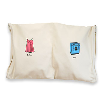 before and after undercover zip organic lingerie bag : Dogeared Jewels and Gifts :  silk screen canvas canvas bags underwear