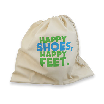 happy shoes happy feet sole traveler organic shoe sack : Dogeared Jewels and Gifts