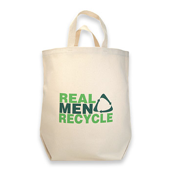 real men recycle reusable shopping bag : Dogeared Jewels and Gifts