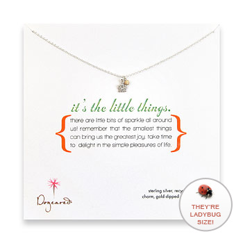 it's the little things sterling silver necklace with lotus charm : Dogeared Jewels and Gifts