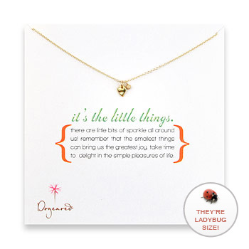 it's the little things gold dipped necklace with heart charm : Dogeared Jewels and Gifts