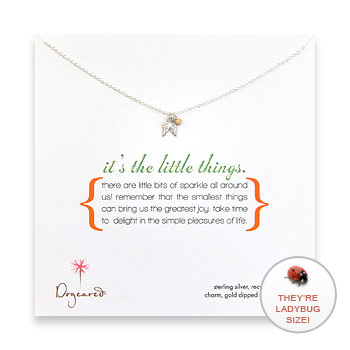 it's the little things sterling silver necklace with angel wing charm : Dogeared Jewels and Gifts