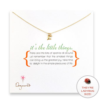 it's the little things  gold dipped necklace with hummingbird charm : Dogeared Jewels and Gifts