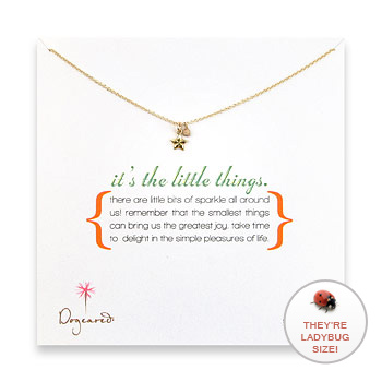 it's the little things gold dipped necklace with lucky star charm : Dogeared Jewels and Gifts