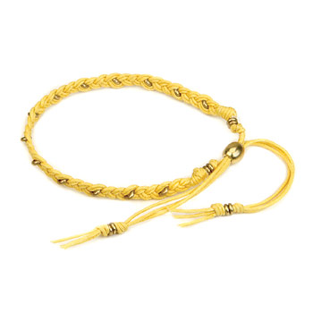 friendship bracelet with brass washers on gold waxed cotton : Dogeared Jewels and Gifts