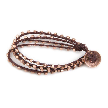 100 good wishes maroon irish linen bracelet with rose gold dipped beads : Dogeared Jewels and Gifts :  maroon 100 good wishes bead pouch