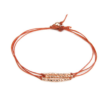 rose gold dipped sparkle bracelet, burnt orange irish linen : Dogeared Jewels and Gifts