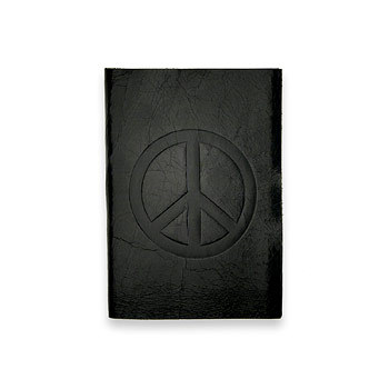 small peace journal with black leather Dogeared Jewels and Gifts from dogeared.com