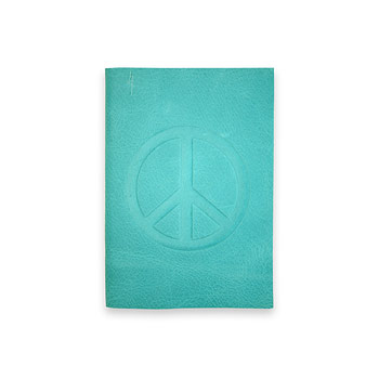 small peace journal with turquoise leather : Dogeared Jewels and Gifts :  dogeared jewels and gifts peace sign journal recycled