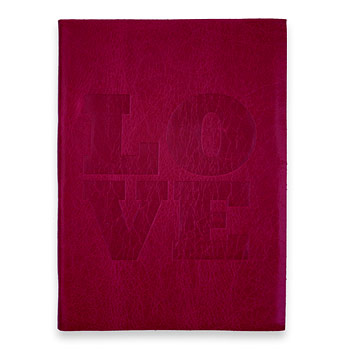 large love journal with berry leather Dogeared Jewels and Gifts from dogeared.com