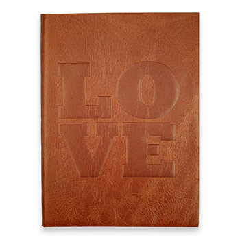 large love journal with pumpkin leather Dogeared Jewels and Gifts from dogeared.com