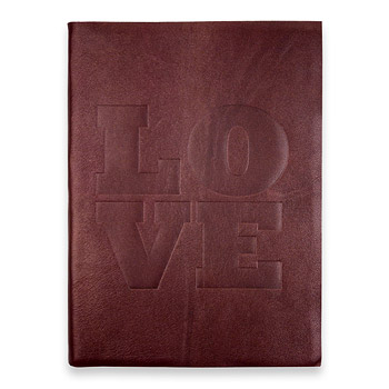 large love journal with plum leather Dogeared Jewels and Gifts from dogeared.com