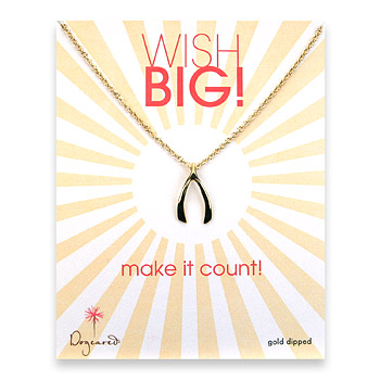 the golden 'mischa' wishbone : Dogeared Jewels and Gifts :  gold filled christmas anniversary wish