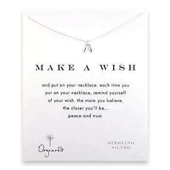 make a wish teeny wishbone sterling reminder necklace