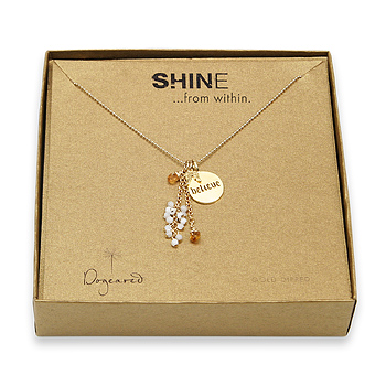 shine believe cluster necklace