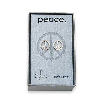 peace stud sterling silver earrings  :  shopping jewelry dogeared accessories