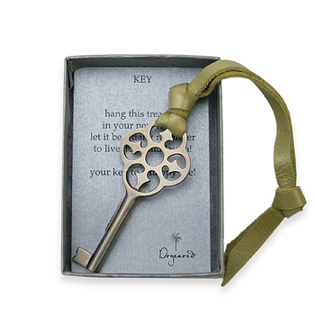 key to happiness house blessing silver bronze key : Dogeared Jewels and Gifts :  key silver bronze graduation house blessing