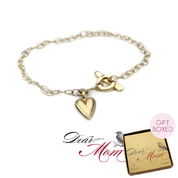 perfect heart gold dipped bracelet : Dogeared Jewels and Gifts