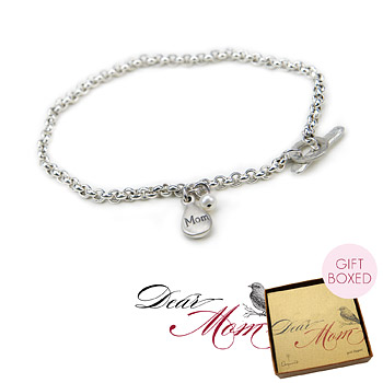 mom's so pretty sterling silver charm bracelet : Dogeared Jewels and Gifts