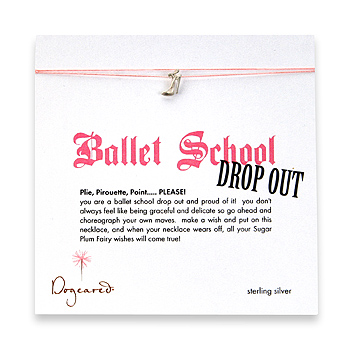 ballet school dropout make a wish necklace with sterling silver high heel on pink : Dogeared Jewels and Gifts