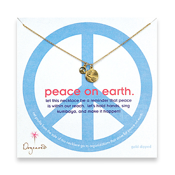 dogeared 'peace on earth' necklace :  necklace peace earth dogeared