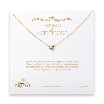 bridal+pearls+of+happiness+rose+pearl+necklace%2C+gold+dipped