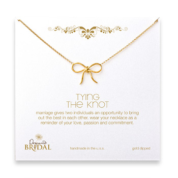 bridal+tyring+the+knot+necklace%2C+gold+dipped+-+18+inches