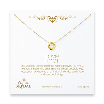 bridal+love+knot+necklace%2C+gold+dipped