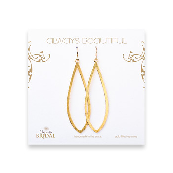 bridal+earrings%2C+always+beautiful+petal%2C+gold+dipped