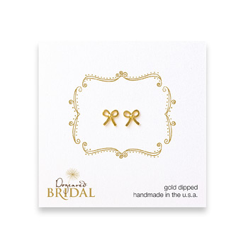 bridal+bow+stud+earrings%2C+gold+dipped